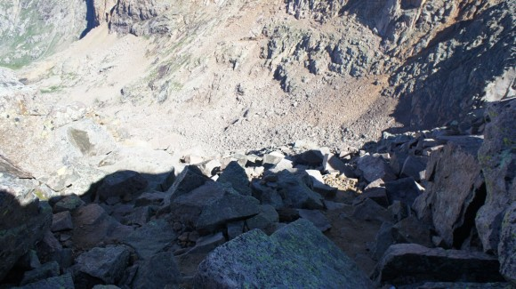 climbing route down top of windom peak colorado 14er