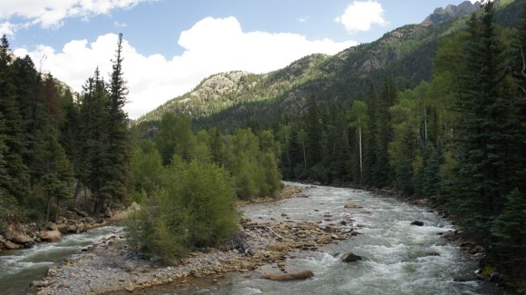 animas river bridge crossing needleton weminuche wilderness