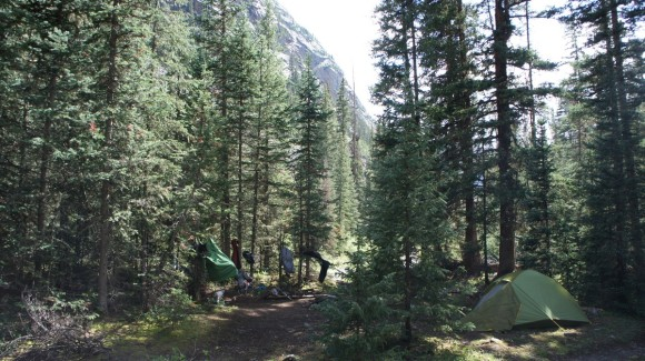 weminuche wilderness elk creek campsite