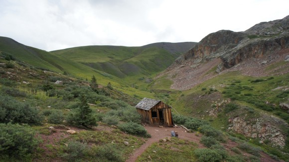 miner's cabin below the CDT in the san juans along the colorado trail
