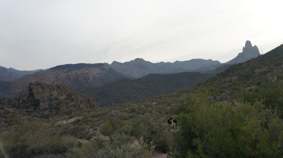 view of weavers needle from first water trail
