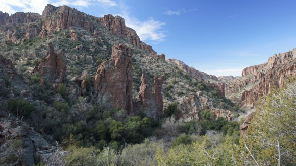 view of fish creek canyon from frog tanks trail in rogers canyon