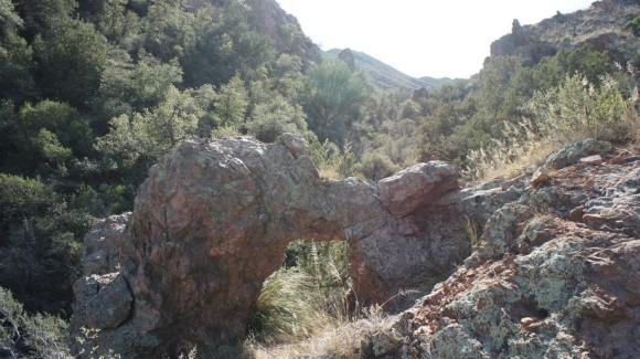 rock arch along side the rogers canyon trail
