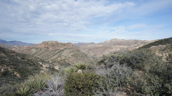 superstition wilderness view from tortilla pass