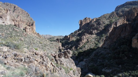 leaving upper labarge box canyon on red tanks trail