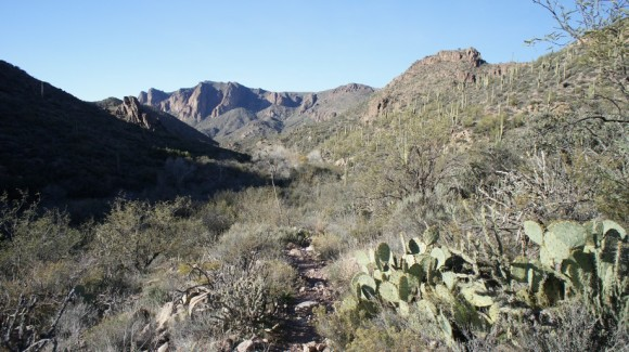 easy flat trail through labarge canyon