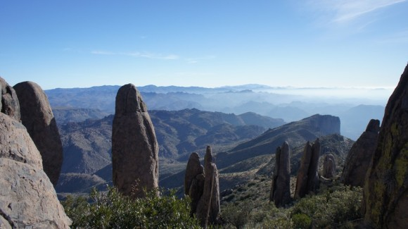 view of spires above the superstiion wilderness