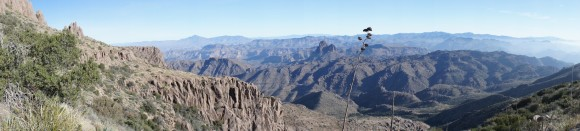 superstition wilderness as seen from superstition mountains