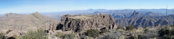 overlooking the superstition wilderness from the ridgeline