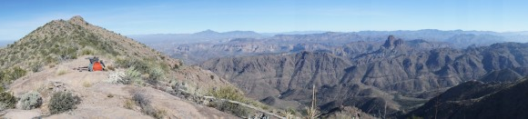 panorama from the superstition ridgeline