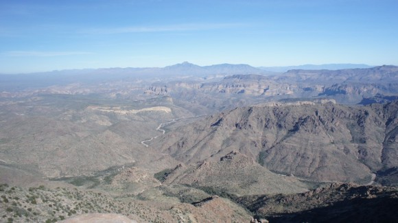 view of the superstition wilderness from the superstition mountains