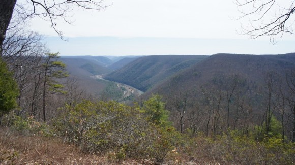 view of pine creek gorge in pa
