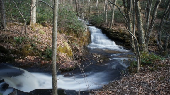 two waterfalls tiadaghton state forest backpacking