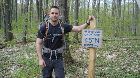 crossing the 45th parallel along the north country trail