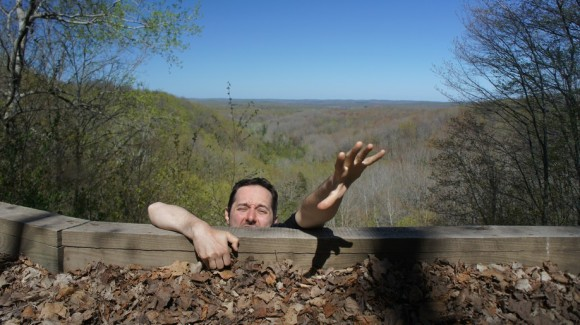 bryan fooling around at landslide overlook