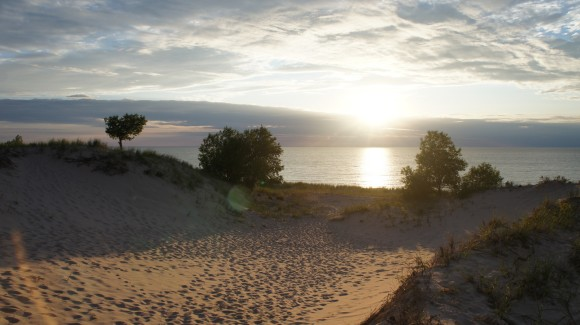 nordhouse dunes sunset over lake michigan
