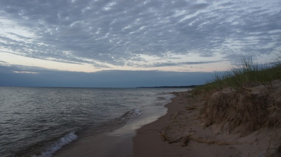 twilight lake michigan nordhouse dunes beach