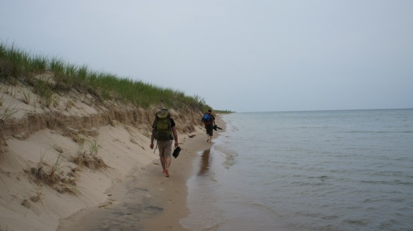lake michigan shoreline hiking nordhouse dunes wilderness