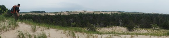 panorama shot of nordhouse dunes