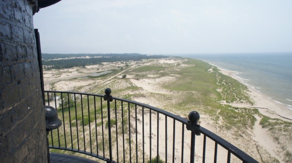 view from big sable point lighthouse