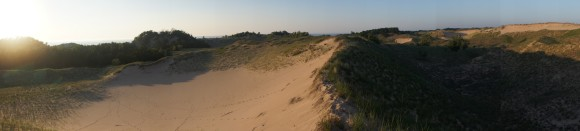 panorama shot of sunset over sand dunes nordhouse dunes wilderness