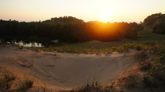 lake michigan sunset interdunal ponds nordhouse dunes