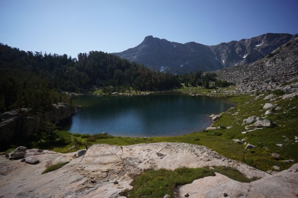 picture of unnamed lake in the wind river range wyoming
