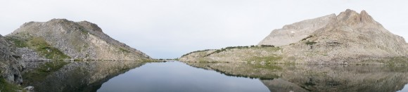 panorama shot of long lake