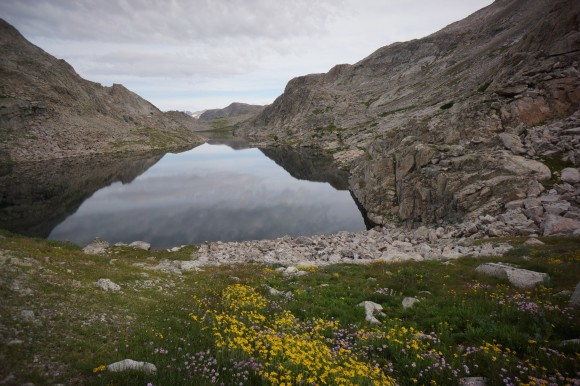 long lake in the wind river range