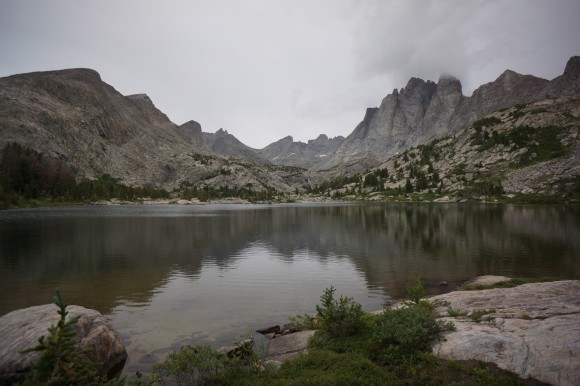 view from my campsite at bonneville lake wind river range