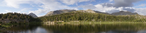 panorama shot of skull lake