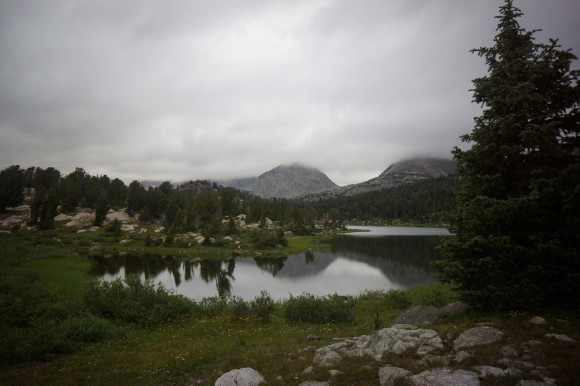 cloudy day at skull lake