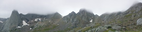 panorama of the cirque of the towers