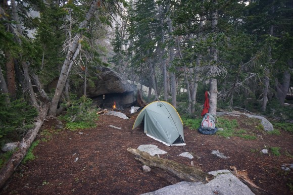 campsite above lonesome lake