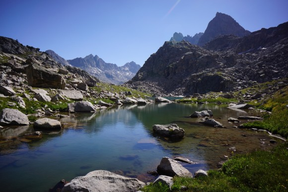 dale lake in the wind river range, wyoming