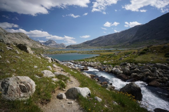 titcomb lake wind river range wyoming high route