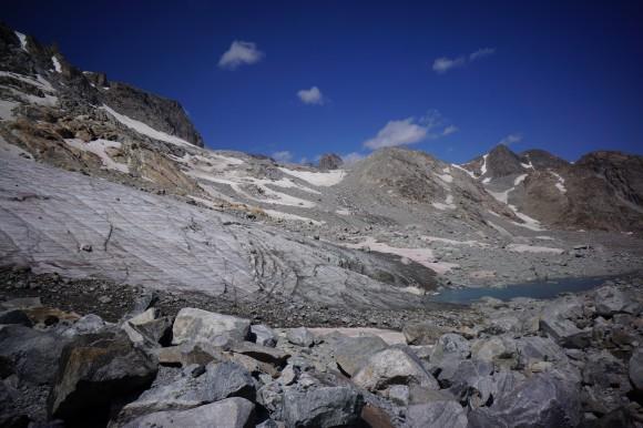 terminus of knifepoint glacier