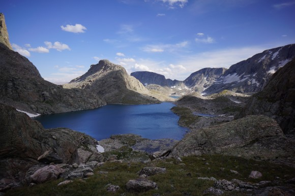 view of alpine lakes in the fitzpatrick wilderness