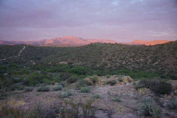 four peaks wilderness sunset