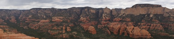 panoramic picture of the red rock-secret mountain wilderness in arizona