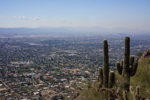 camelback mountain cholla trail view