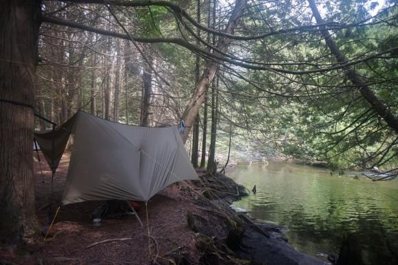 pigeon river hammock hang campsite