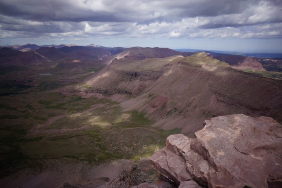kings peak utah view from summit