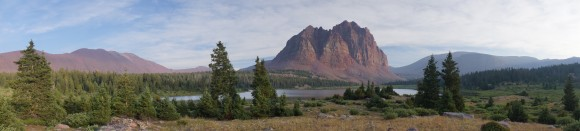 panorama from lower red castle lake