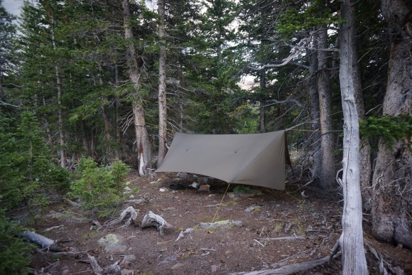 hammock hang campsite near milk lake in painter basin