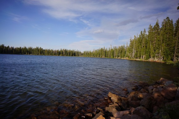 view of bear lake's east shore