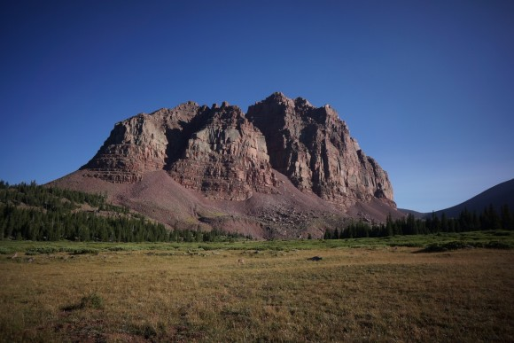a view of red castle in the uintas mountains, utah