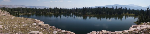 panoramic view of lambert lake
