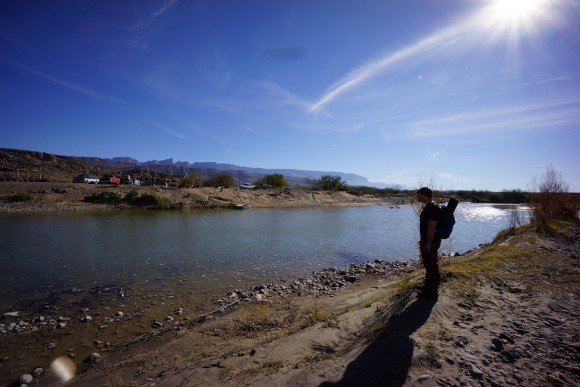 waiting for the ferry at the boquillas border crossing