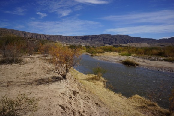 at talley in big bend national park, looking at the rio grande